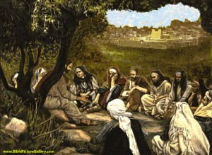 Jesus and Followers in the Mount of Olives