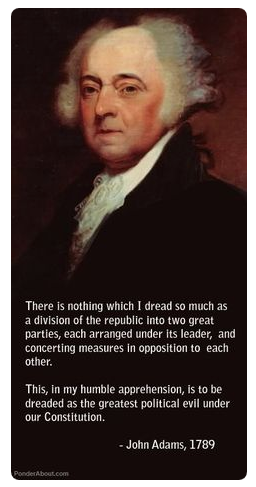 John Adams on the Two Party System